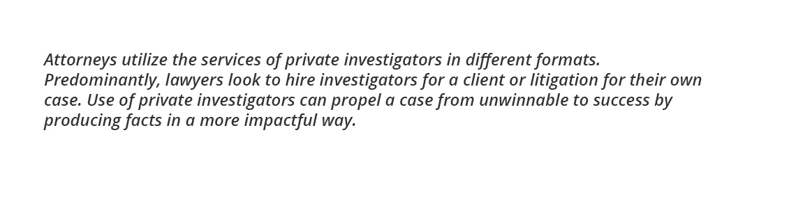 Legal and Attorney Investigations